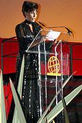 La presentadora del certamen, Carolina Casado