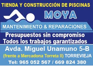 Piscinas Moya Avda. Miguel de Unamuno, 5B – frente Mercadona Torreta II