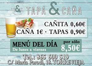 Tapa-Caña Calle María Parodi, 18